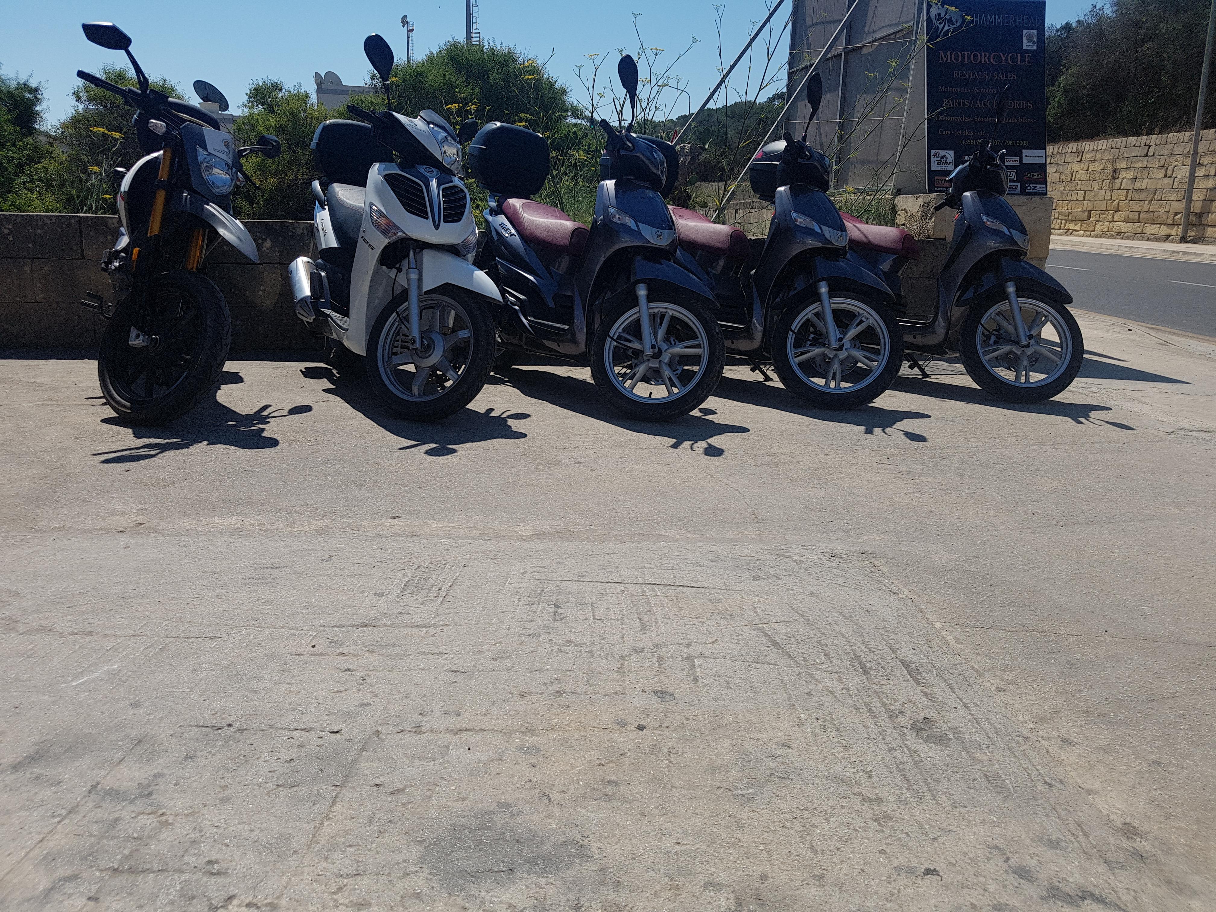 rental bikes outside